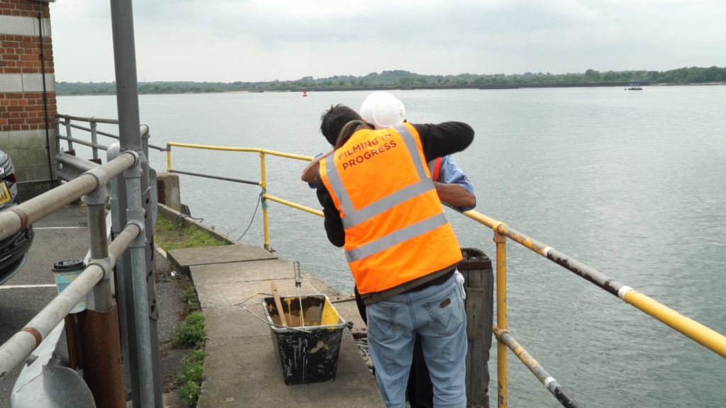 Mic-ing up the Red Funnel maintenance worker
