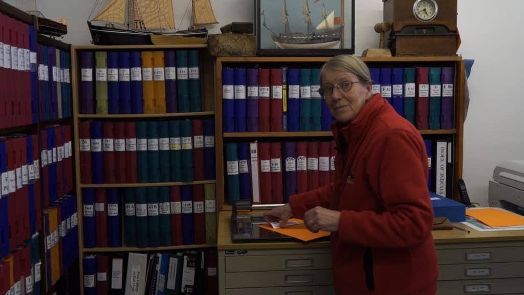 Sarah Burdett at the Heritage Centre